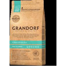 Grandorf Dog All Breeds 4 вида мяса с бурым рисом