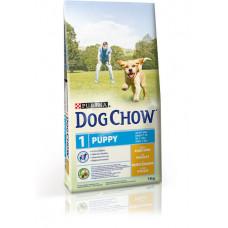Dog Chow для щенков всех пород, курица, пакет, 14 кг