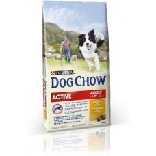Dog Chow для активных взрослых собак, курица, пакет, 14 кг
