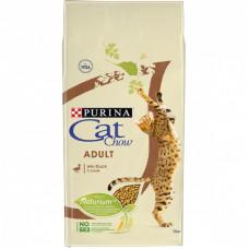 Сухой корм Cat Chow для взрослых кошек с уткой, Пакет, 15 кг