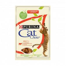 Влажныйкорм Cat Chowдля взрослых кошек сговядиной и баклажанами 85 г