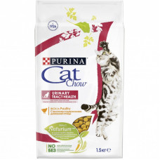 Сухой корм Cat Chow для взрослых кошек обеспечивает здоровье мочевыводящих путей, Пакет, 1,5 кг