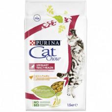 Сухой корм Cat Chow для взрослых кошек обеспечивает здоровье мочевыводящих путей, Пакет, 15 кг