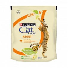 Сухой корм Cat Chow для взрослых кошек с домашней птицей и индейкой, Пакет, 400 г
