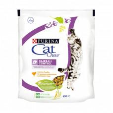 Сухой корм Cat Chow для взрослых кошек контролирует образование комков шерсти в ЖКТ, Пакет, 400 г