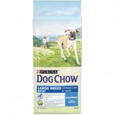 Dog Chow для взрослых собак крупных пород, индейка, пакет, 14 кг