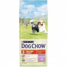 Dog Chow Mature Adult для собак старше 5 лет, ягнёнок, пакет, 14 кг