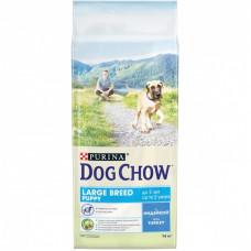Dog Chow для щенков крупных пород, индейка, пакет, 14 кг