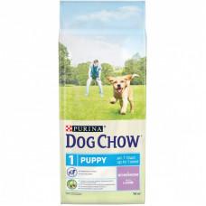 Dog Chow для щенков всех пород, ягнёнок, пакет, 14 кг