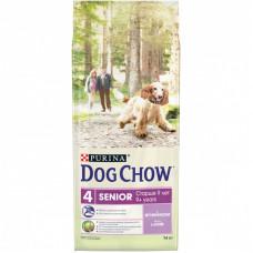Dog Chow Senior для собак старше 9 лет, ягнёнок, пакет, 14 кг