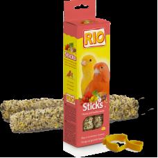 RIO. Палочки для канареек с медом и полезными семенами 2х40 гр.