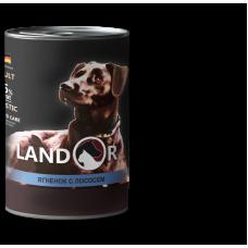 LANDOR ADULT DOG LAMB AND SALMON, 400 гр.