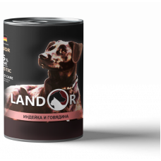 LANDOR PUPPY ALL BREED TURKEY AND BEEF, 400 гр.