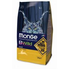 MONGE, BWILD CAT HARE, для взрослых кошек с мясом зайца